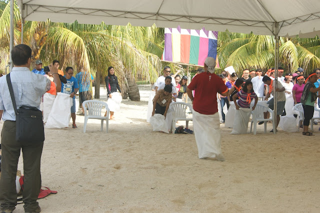 Sack race in Siquijor