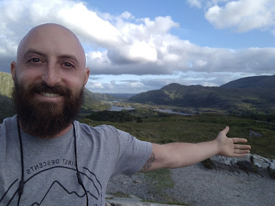 Benjamin Rubenstein at the Ring of Kerry in Ireland while in residency at Stonecoast