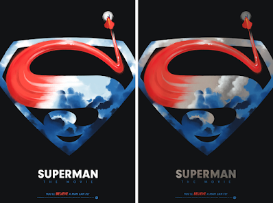 Superman The Movie Screen Print by Lyndon Willoughby x Bottleneck Gallery