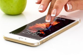 Mobile with Girl Hand Image - Free Copyright Image