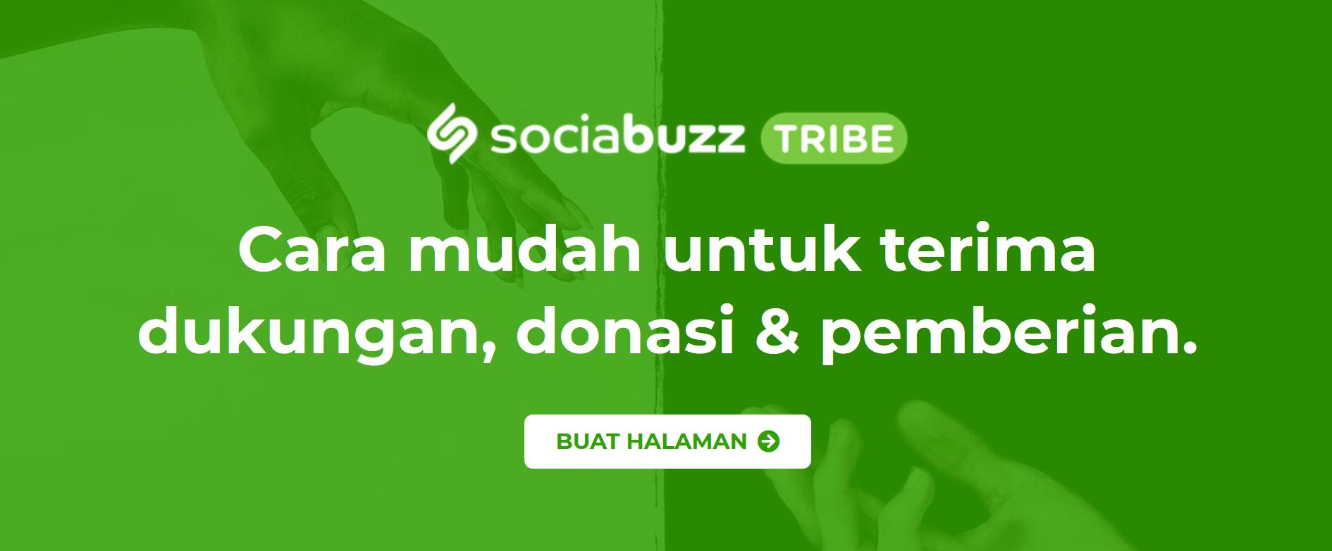 cara buat sumbangan online di Sociabuzz Tribe