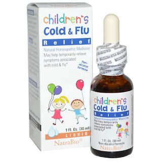 علاج الانفلونزا واعراض البرد للاطفال  NatraBio, Children's Cold & Flu Relief, 1 fl oz (30 ml)