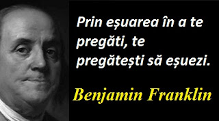 Maxima zilei: 17 ianuarie - Benjamin Franklin
