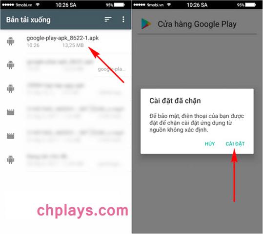 Cập nhật và Cài Cửa Hàng Ch PLay trên bất kỳ máy Samsung Android nào b