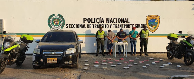 Cargamento de marihuana cayó en la vía Riohacha-Palomino