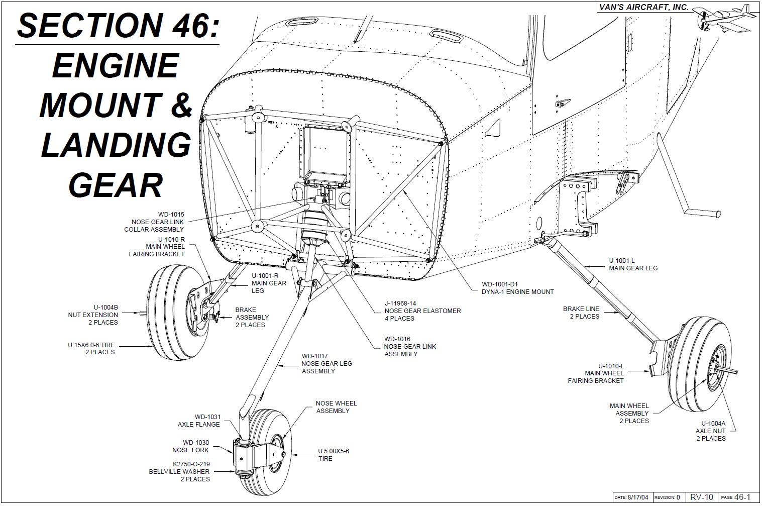 Operation Rv 10 Engine Mount Amp Landing Gear
