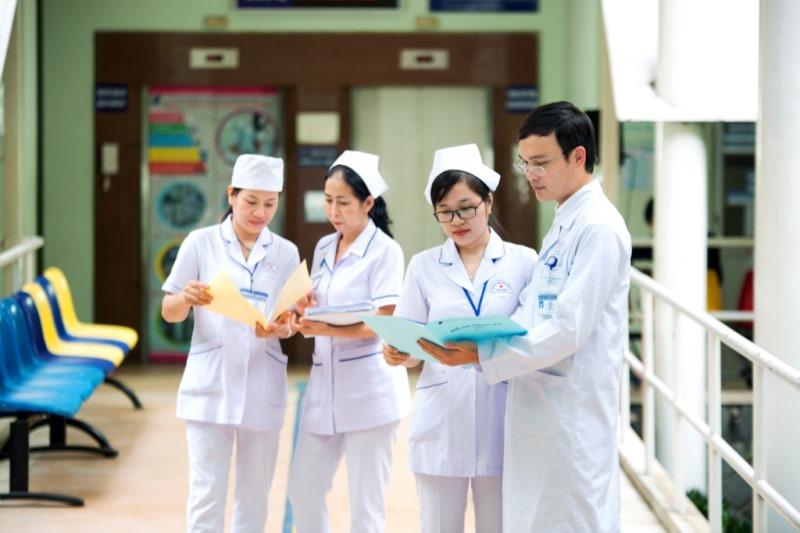 Mẫu đồng phục tại Bệnh Viện Việt Đức