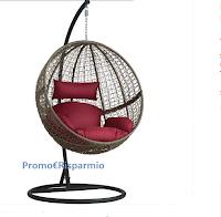 Logo Vinci gratis una poltrona sospesa in polyrattan con piedistallo ( valore € 434,39)