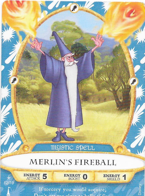 Merlin's Fireball Spell Card 12/70