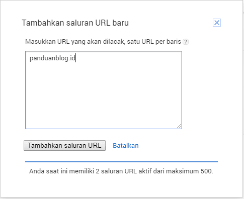 Membuat Channel URL Google AdSense