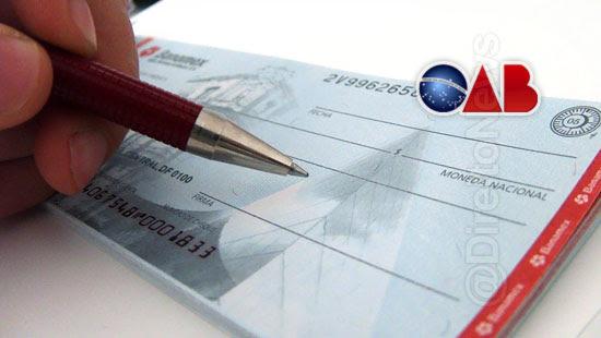oab suspensao cobranca cheque especial direito