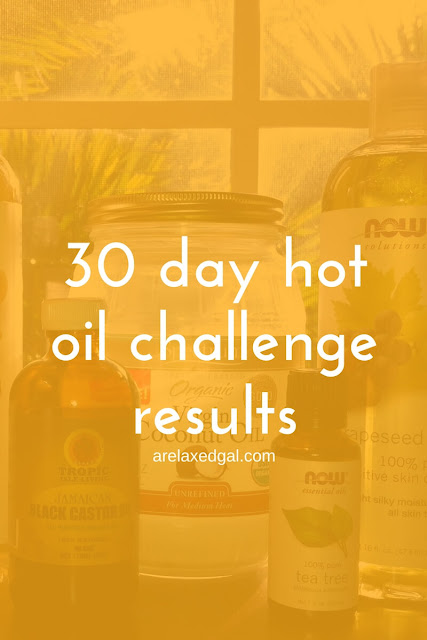 MY 30 day hot oil treatment challenge results | arelaxedgal.com