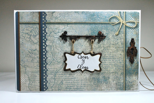 Carpeta para guardar el libro de firmas BLUES de Ann Friks. Scrapbook