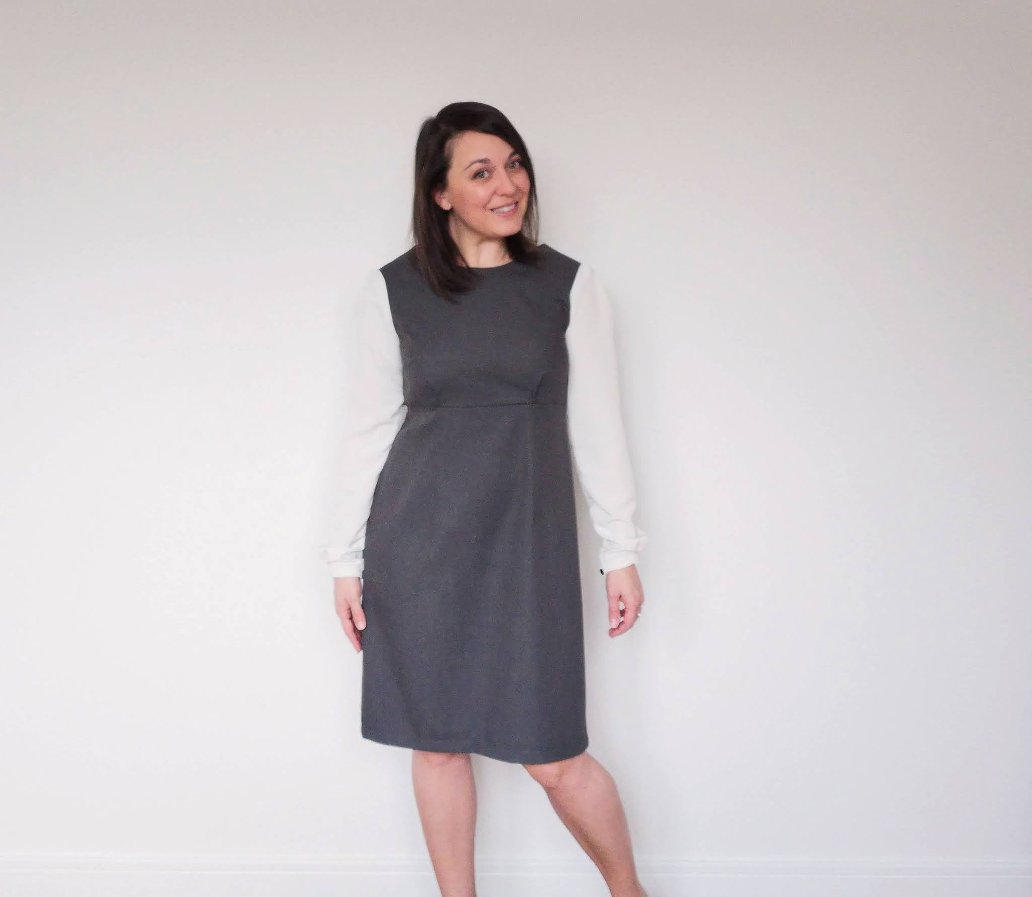 Tilly and the Buttons Love at First Stitch Megan dress with long sleeves