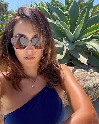 caterina balivo con occhiali Bulgari Isola Maddalena