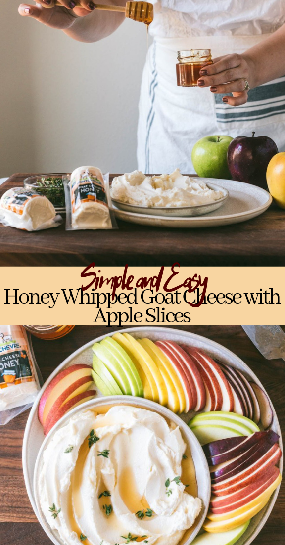 Honey Whipped Goat Cheese with Apple Slices #desserts #cakerecipe #chocolate #fingerfood #easy