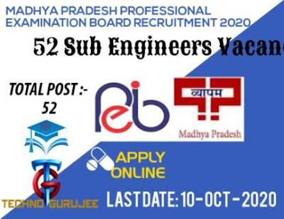 Madhya-Pradesh-(MP)-PEB-Sub-Engineer-Recruitment-2020