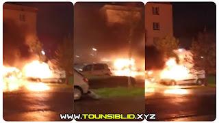 (بالفيديو) صفاقس كلم 12 : اشتعال سيارة واحتراق صاحبها
