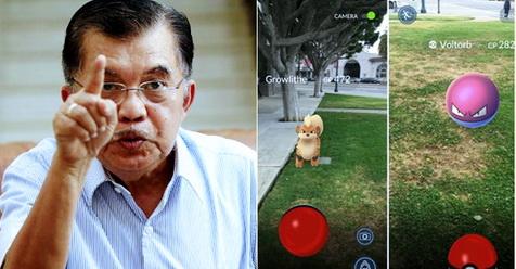 Dukung Pokemon, Jusuf Kalla Anjurkan Pemerintah Bangun Banyak Taman Untuk Berburu Pokemon