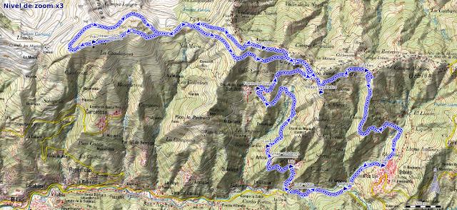 Mapa ruta Polio y San Justo desde Puente Llera