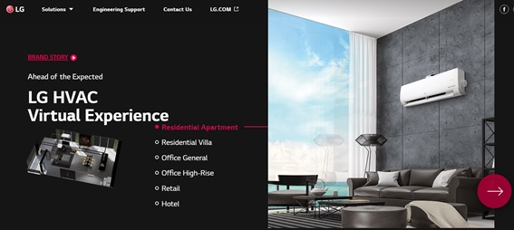 LG HVAC Virtual Experience