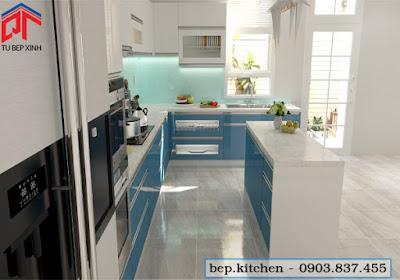 tu bep, nội thất bếp, tủ bếp acrylic, tủ bếp đẹp