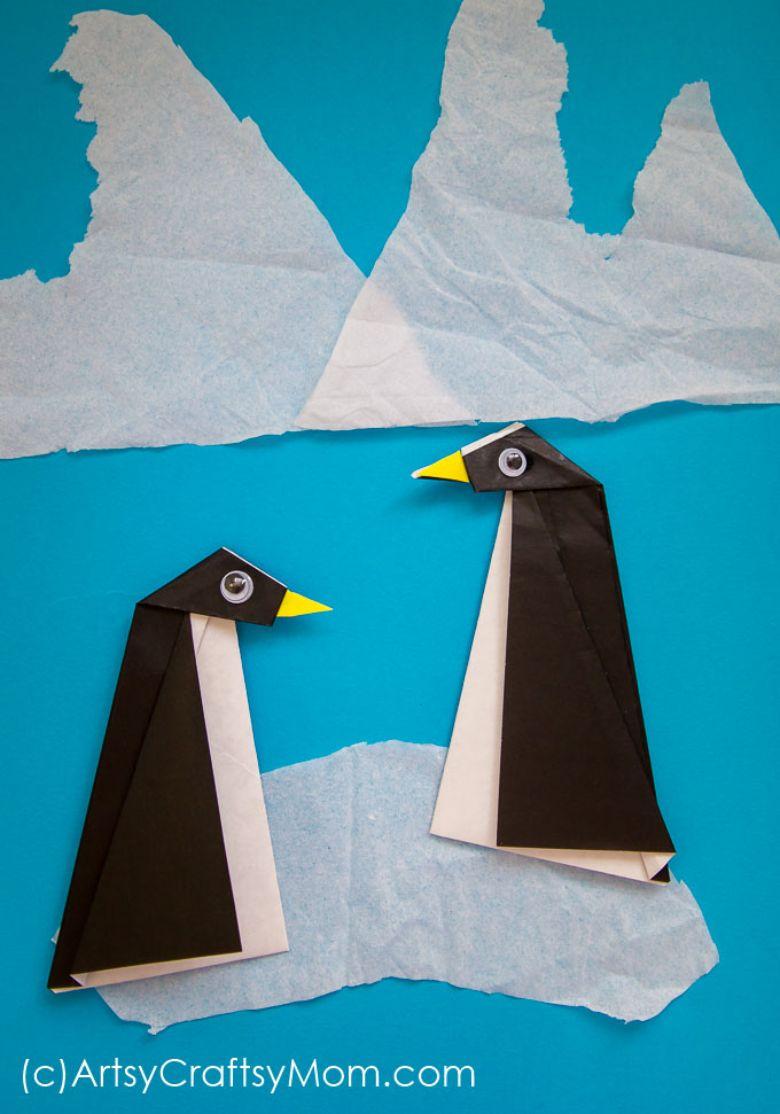 origami penguin craft