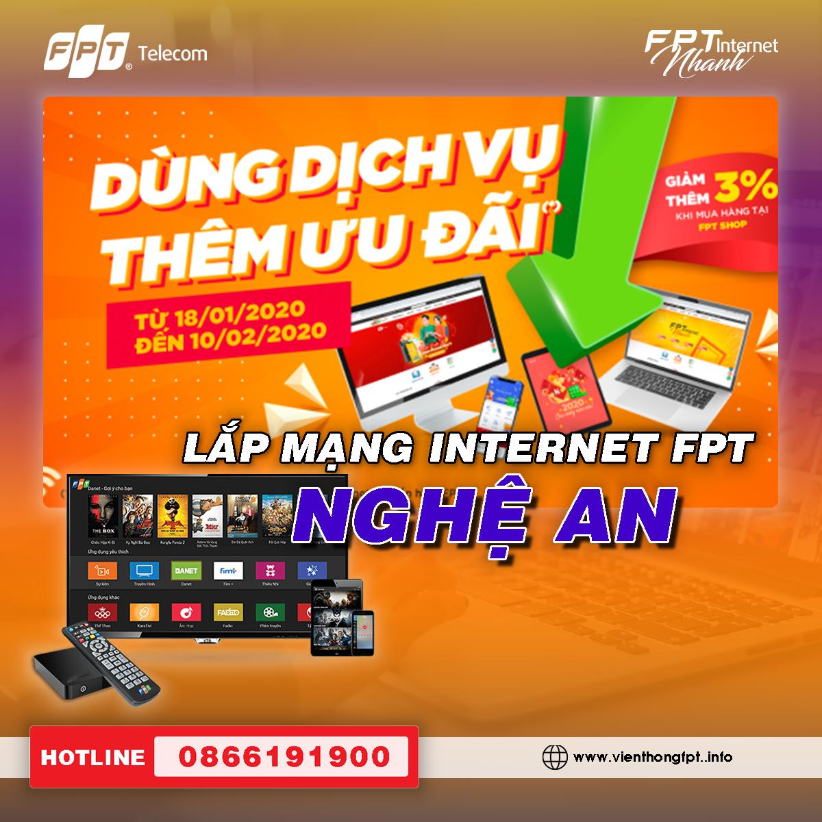 Đăng ký Internet FPT Nghệ An - Miễn phí hòa mạng - Trang bị Modem Wifi