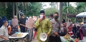 Tim PPKM Desa Sekernan Sosialisasi Masker Di Pasar Tradisional Desa