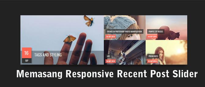 Memasang Responsive Recent Post Slider