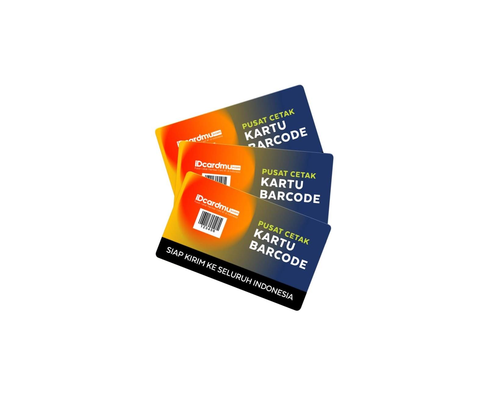 Cetak kartu member barcode murah bahan pvc member card