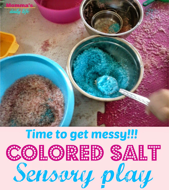 salt sensory play, momma's daily life