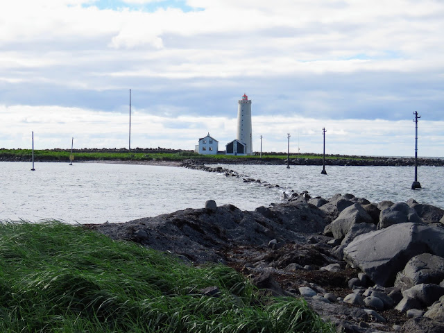 Places to walk in Reykjavik, Iceland: Grótta Lighthouse on Setjarnarnes Peninsula