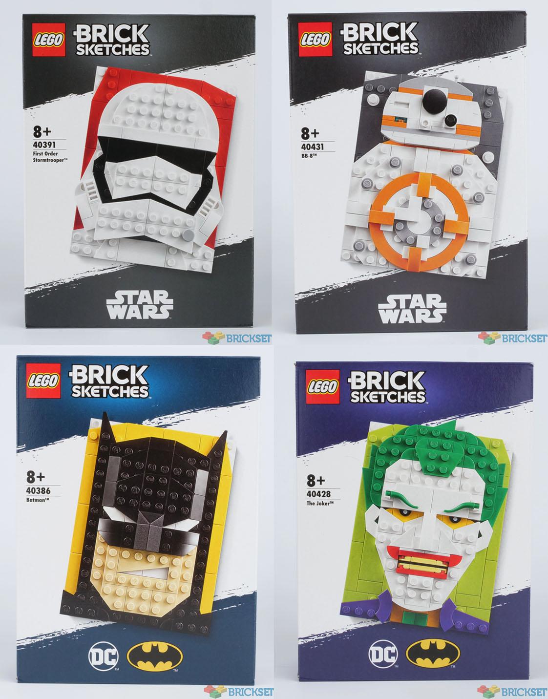 2020年新シリーズブリックスケッチ:みんな大好きバットマンとスターウォーズから
