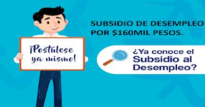 Subsidio de desempleo 480 mil pesos