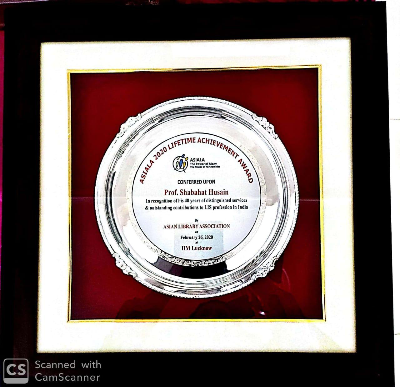 ASIALA 2020 Lifetime Achievement Award