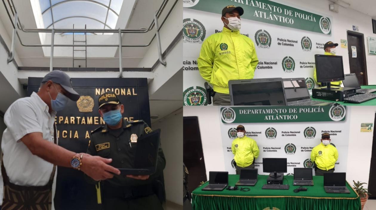 Policía recupera 4 portátiles y un computador hurtados en colegio de Juan de Acosta