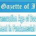 Gazette Notification: Superannuation Age of Doctors - Amendment in Fundamental Rule-56