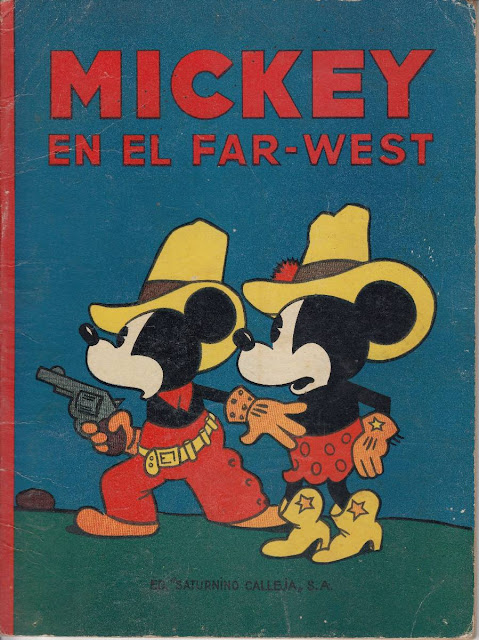 Portada de Mickey en el far west de Editorial Saturnino Calleja