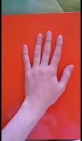 foto mano esempio arancione