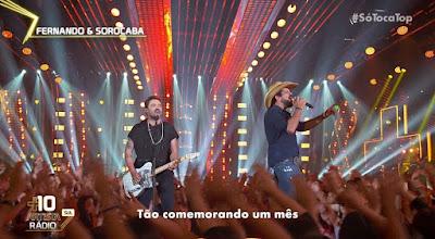 Fernando e Sorocaba se apresentam no 'SóTocaTop' — Foto: Gshow