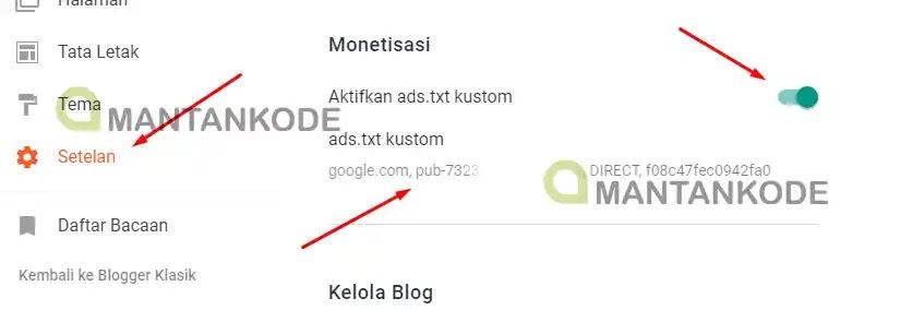 Blogspot Cara mengatasi ads txt diblogspot - baru 1 mantankode