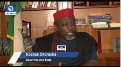 Governor Okorocha Laments About The Manner APC and Adams Oshiomole Has Treated Him