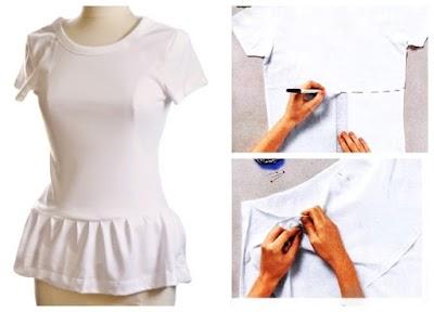Camisetas con faldita tutorial