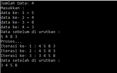 algoritma insertion sort bahasa c