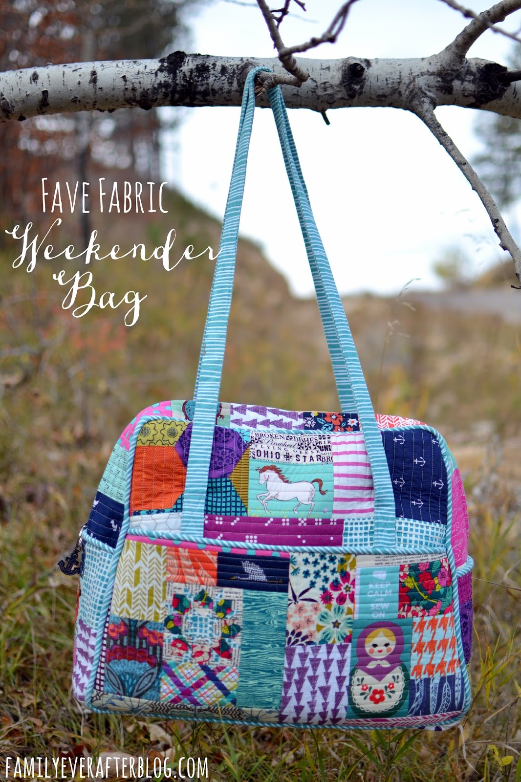 My Fave Fabric Quilted Weekender Bag