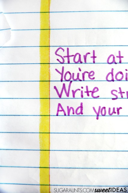 Easy tips for spacing in handwriting