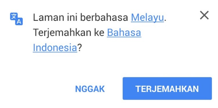 Cara Mematikan Auto Translate di Google Chrome Android