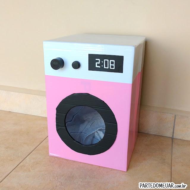 Máquina de lavar de papelão
