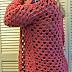 Folded Front Panel Crochet Cardigan Sweater   Fashion